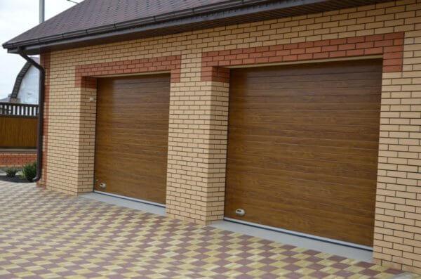 Секционные гаражные ворота – Широкая полоса