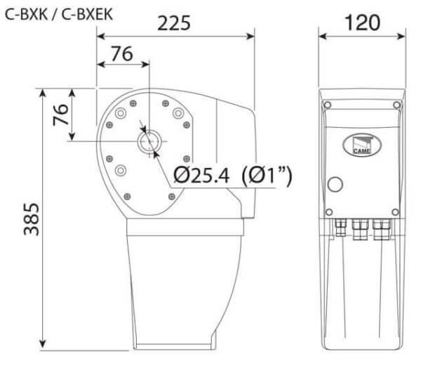 Автоматика для промышленных ворот - Came CBXK