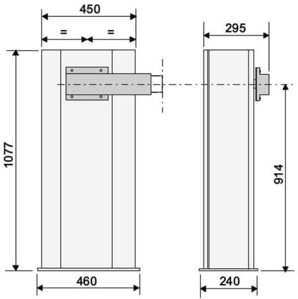 Автоматический шлагбаум CAME Gard 6000 габариты
