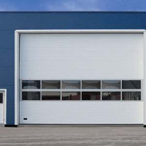 Промышленные ворота с окнами