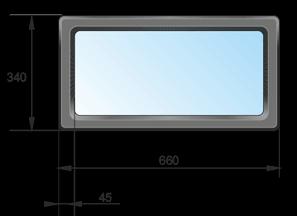 Прямоугольное окно для ворот Ryterna