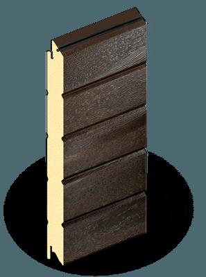Сэндвич-панели 500 мм темный дуб