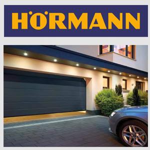 Секционные гаражные ворота Hormann серые